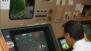 An FAA air traffic manager in Westbury.