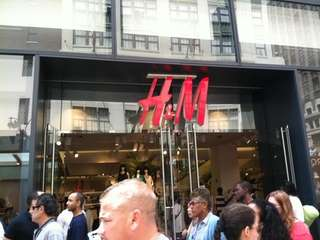 H&M store in Manhattan.