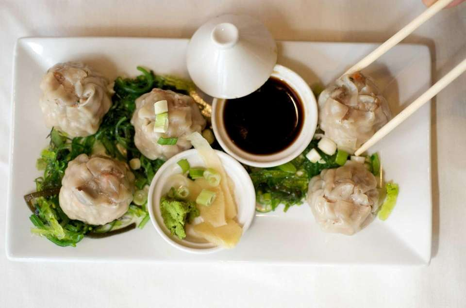 STUDIO GRILLE, SeldenSteamed shrimp dumplings are prepared with