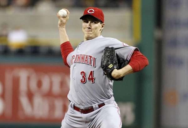 Homer Bailey delivers a pitch during a game