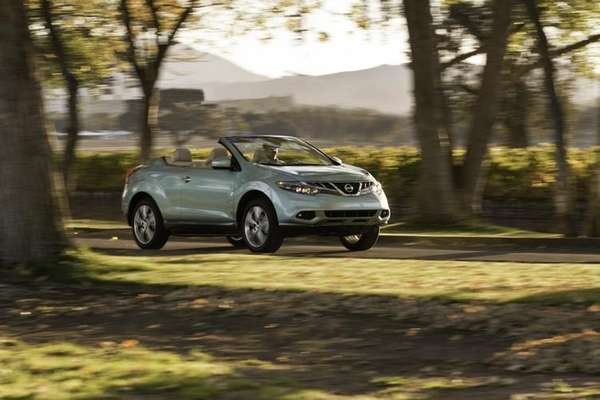 The 2012 Nissan Murano CrossCabriolet, a convertible SUV,