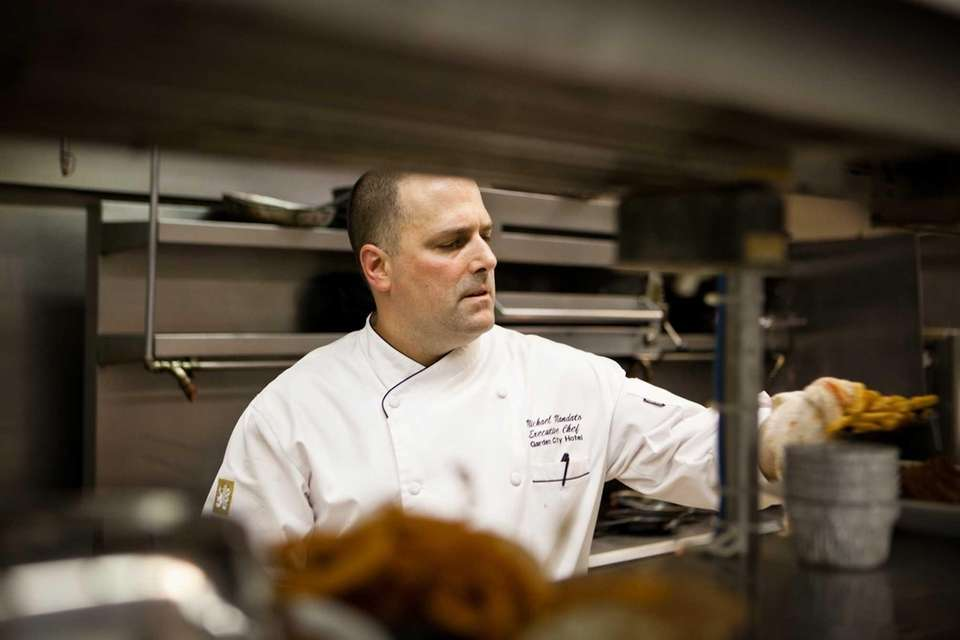 Chef Michael Mandato at Rein, inside the Garden