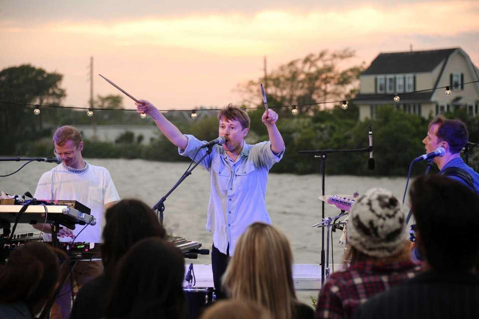 Members of Django Django perform at the Surf