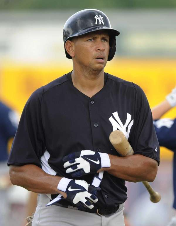 Alex Rodriguez heads to batting practice before the