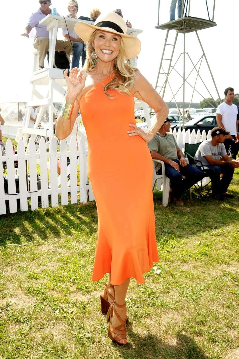 Christie Brinkley attends the 17th.Annual Bridgehampton Polo Challenge