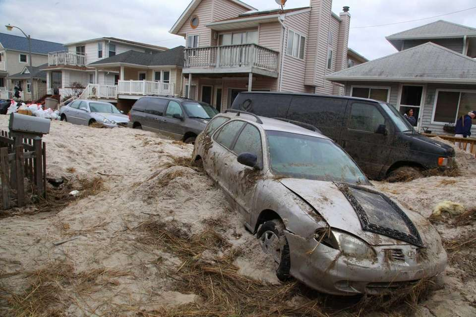 Michigan Street in Long Beach after superstorm Sandy.