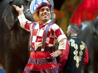 Paulo dos Santos performs in Ringling Bros. and