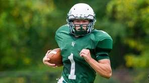 Locust Valley running back John Pedranghelu is chased