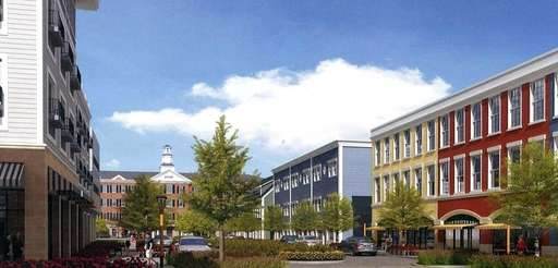 A rendering of proposed buildings on Railroad Avenue