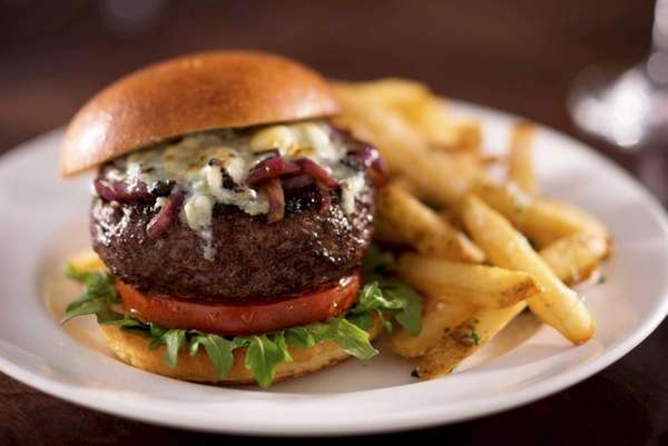 The Gorgonzola-topped burger is a new choice at