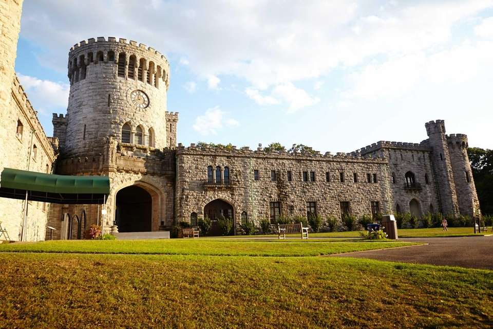 A castle resides within Sands Point Park and