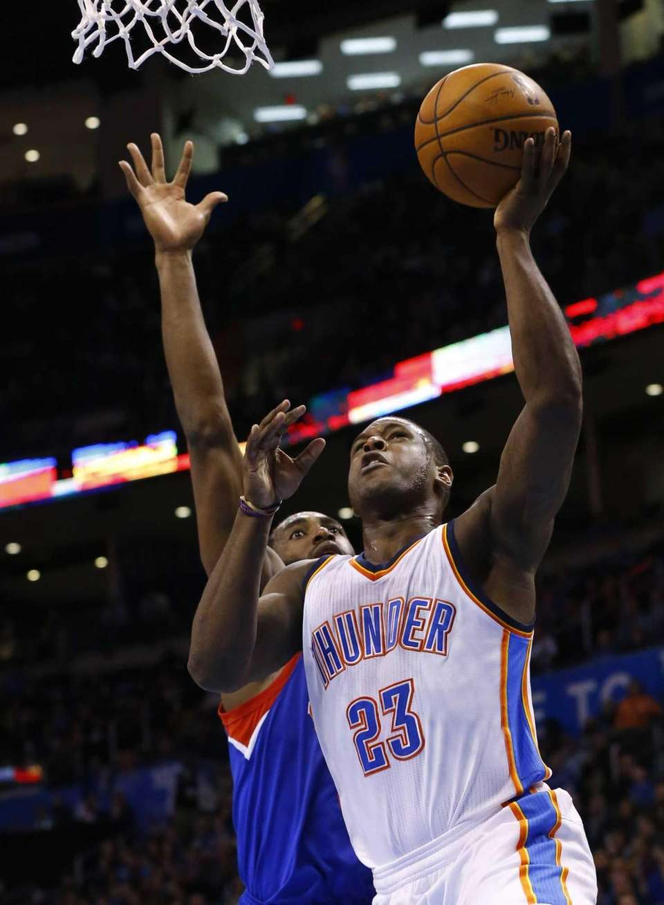 Oklahoma City Thunder guard Dion Waiters (23) shoots