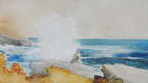 "Winslow Homer's ""Watching the Surf,"" an 1883 watercolor,"