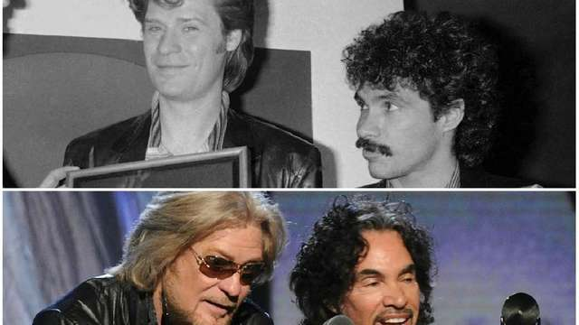 Daryl Hall and John Oates in Manhattan in
