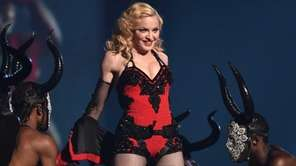 Madonna performs at the 57th annual Grammy Awards