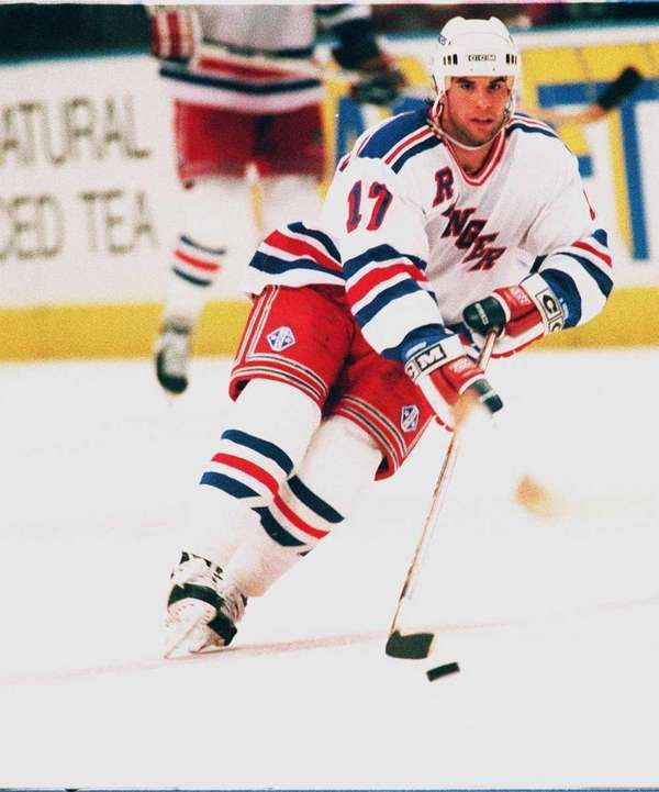 Peter Ferraro of the New York angers skates