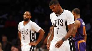 Joe Johnson, right, and Alan Anderson of the