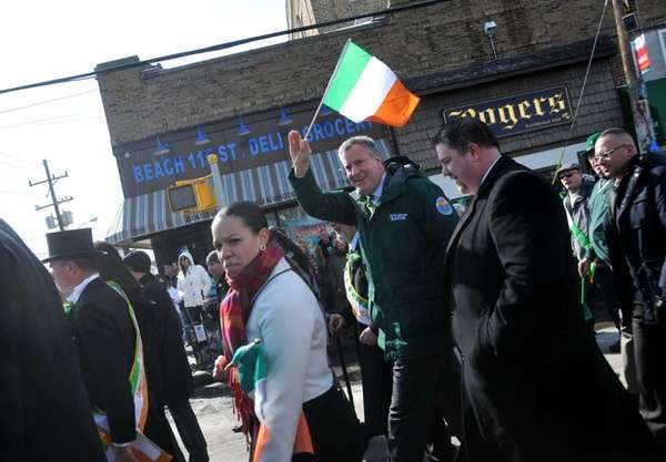 Mayor Bill de Blasio marched in the Rockaways'