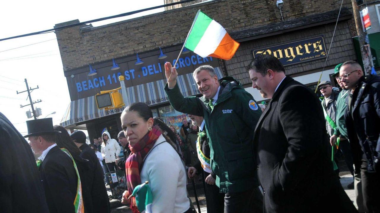 Mayor Bill de Blasio marched in the Rockaways'