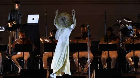 Björk performs at Carnegie Hall on Saturday, March