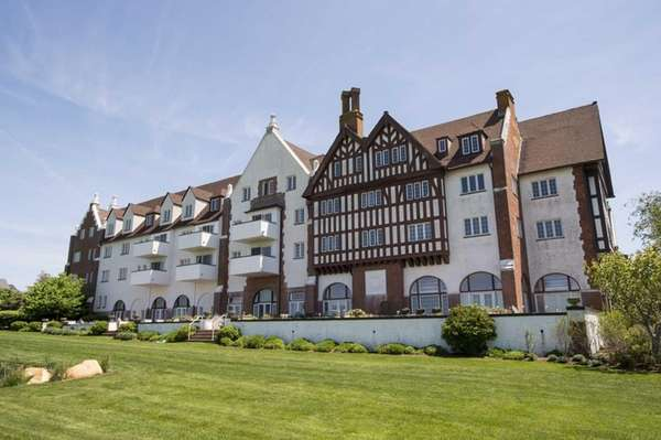 The historic Montauk Manor condominium complex in a