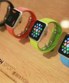 View of the Apple watch displayed in a