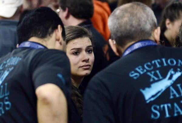 Sachem East's Alissa Fontana gets emotional after competing