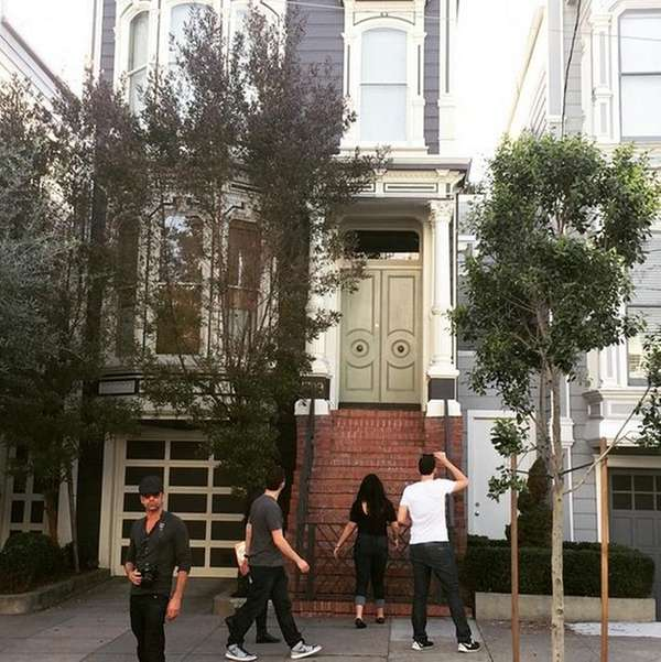 "Actor John Stamos visited the ""Full House"" home"