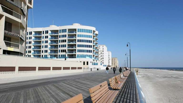 A view of the Long Beach boardwalk near