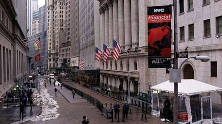 The New York Stock Exchange on March 4,