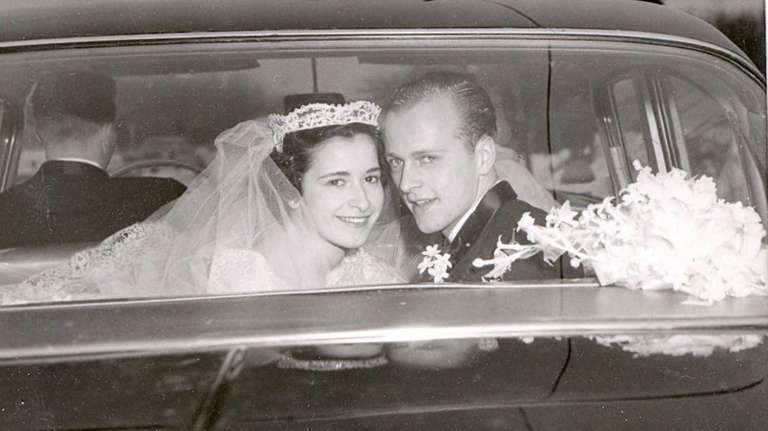 Patricia and Lee Kraus on their wedding day,