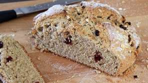 Irish soda bread made with dried cranberries and