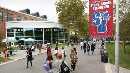A group of Stony Brook University students showed