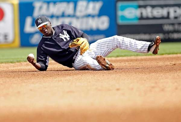 Shortstop Didi Gregorius of the New York Yankees