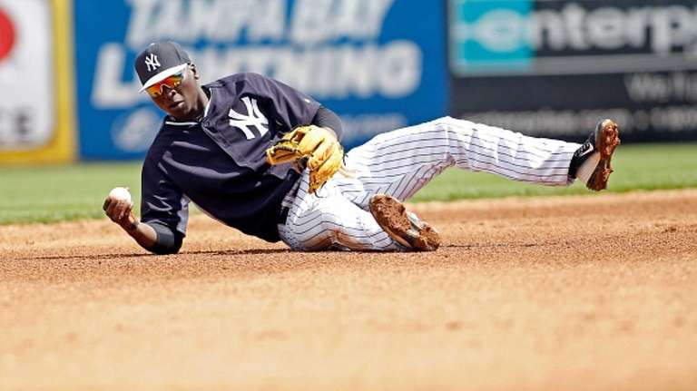 Shortstop Didi Gregorius of the New York Yankees