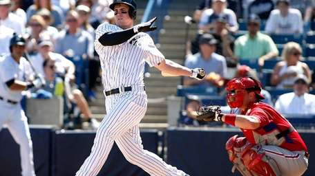 Tyler Austin strikes out swinging in front of