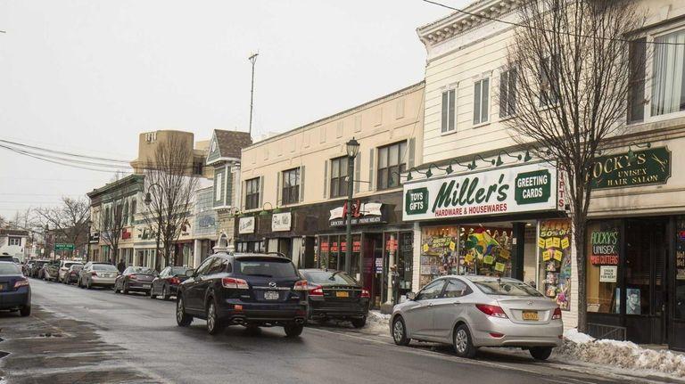 Shops line both sides of Atlantic Avenue in