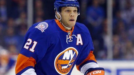 Kyle Okposo of the New York Islanders skates