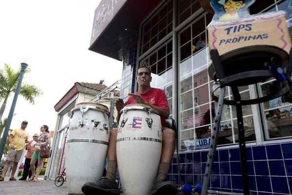 Pablo Gonzalez Portilla plays Latin music on his