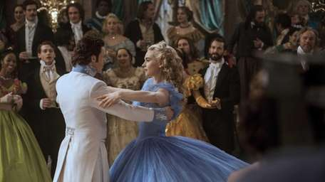 Richard Madden as the prince and Lily James