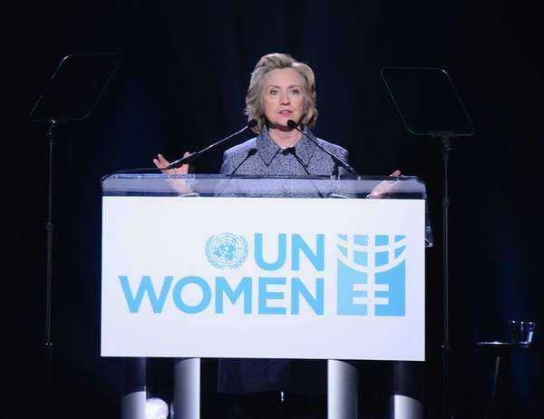 Hillary Clinton attends the Step It Up For