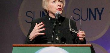 SUNY chancellor Nancy L. Zimpher on April 23,