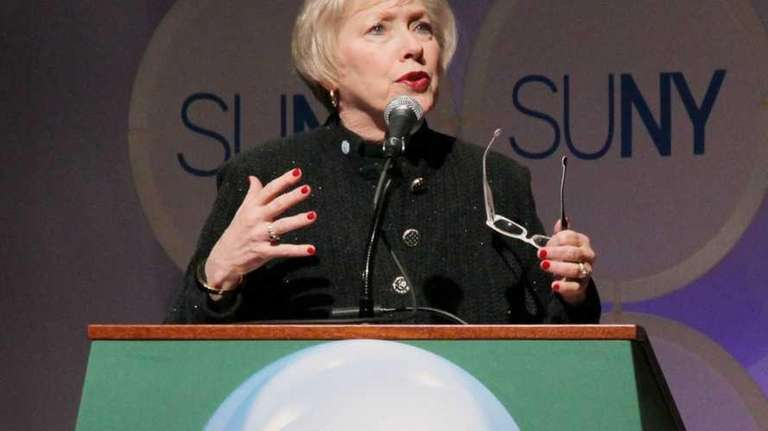 SUNY chancellor Nancy L. Zimpher on April 23,