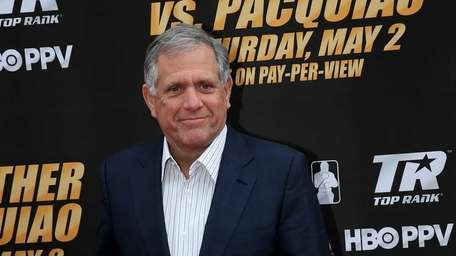 CBS President and CEO Les Moonves poses for