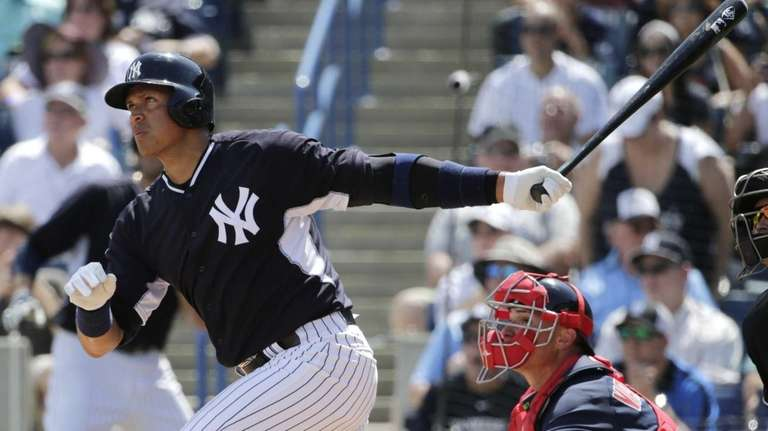 New York Yankees' Alex Rodriguez watches his fourth-inning