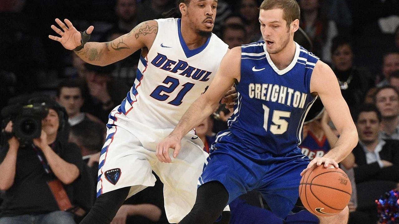 DePaul Blue Demons forward Jamee Crockett defends Creighton