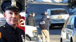 Suffolk County police Officer Mark Collins, left, was