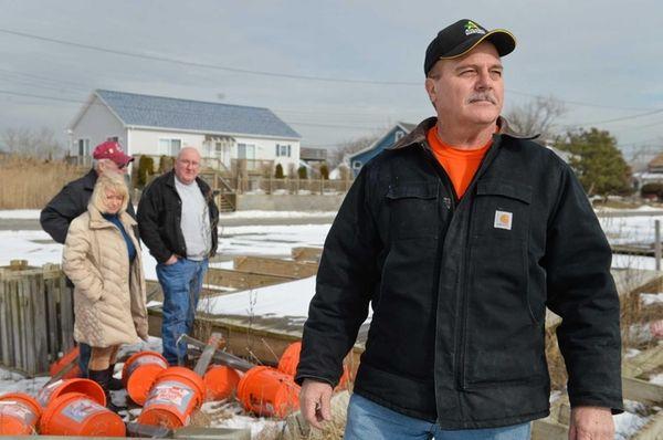 Mayor Bill Biondi, in Mastic Beach on Friday,