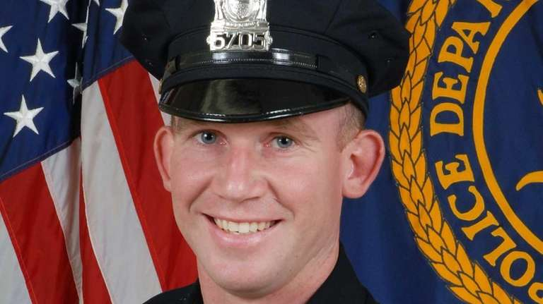 Suffolk County Officer Mark Collins was shot and
