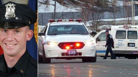 Suffolk County police investigate scene where Officer Mark